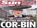 The Sun on the morning of the election