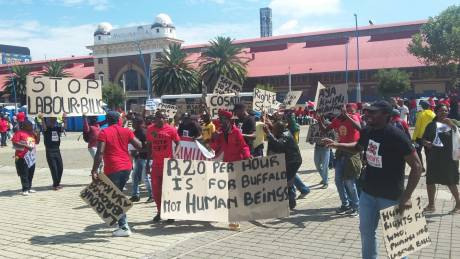 'Workers' rights are human rights' demonstration against new Labour Bills, 21 March 2018, Johannesburg. Photo: Nimet Arikan